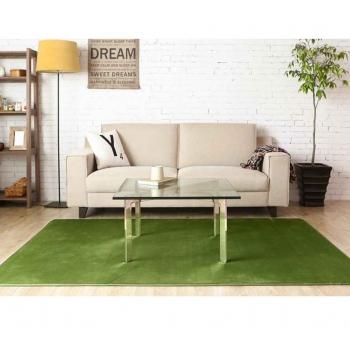 Зеленый ковер с коротким ворсом Moco Premium Green